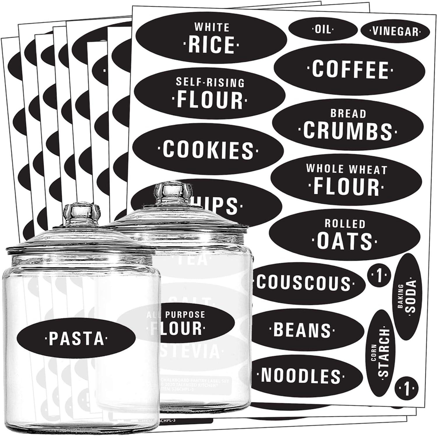 Waterproof Chalkboard Kitchen Jam Jar Bottle Storage Labels Blackboard Stickers