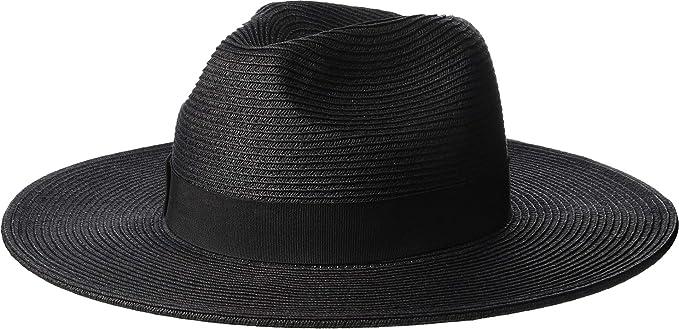 14ba04cd SCALA Women's Paper Braid Big Brim Fedora Black One Size at Amazon Women's  Clothing store: