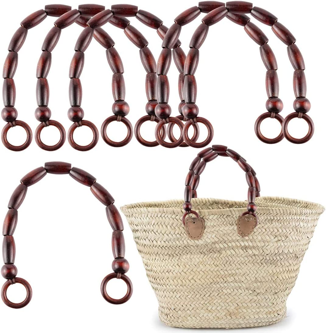 SUPVOX 2pcs Leather Purse Handles Totebag Straps Replacement Handbag Handle for DIY Handbag Purse Making Accessories Yellow