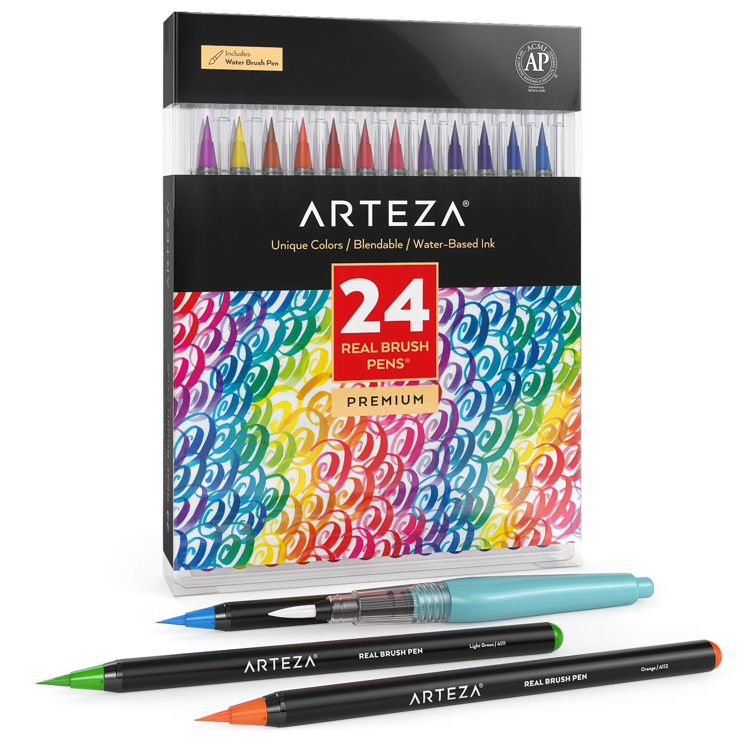 ARTEZA Real Brush Pens, 24