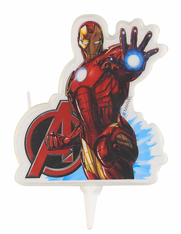 Iron Man 346186 Bougie Figurine 2D Cire, Rouge, 5 x 2 x 8 cm