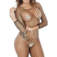 Lencería Sexy para Mujeres, Entrepierna abierta Babydoll Ropa de Dormir Sexy Body de malla Ropa interior de Entrepierna Sin Entrepierna para sexo,KanLin1986(A)