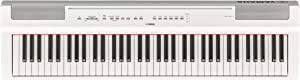 Yamaha P121 73-Key Weighted Action Compact Digital Piano, White