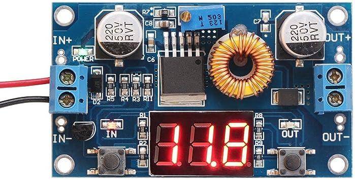 gfjfghfjfh 0.56 Pouce DC 2.5V-40.0V Tensionom/ètre de Moniteur de Tension /à 2 Fils T/ête de testeur LED Voltm/ètre num/érique avec Protection de polarit/é invers/ée