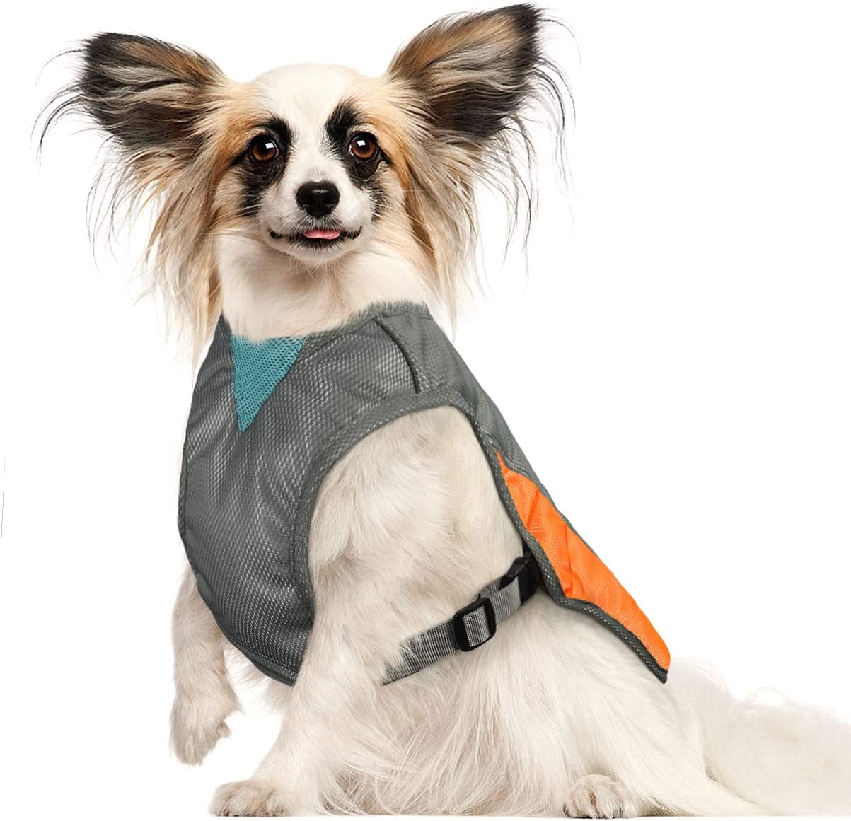 POPETPOP Dog Cooling Vest - Reflective Dog Cooling Coat with Adjustable Side Straps, Pet Cooler Jacket for Small, Medium Dog