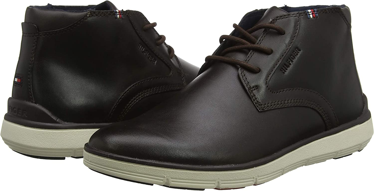 Tommy Hilfiger Lightweight City Leather Boot Botas Clasicas para Hombre