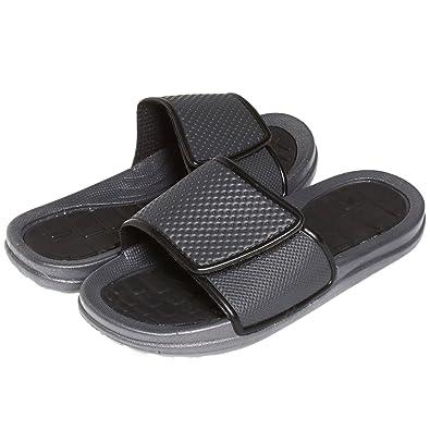 9ddd6838f8dc7 Skysole Boys Rugged Vlelcro Closure Slide Sandals Black B 2 3 US Little Kid
