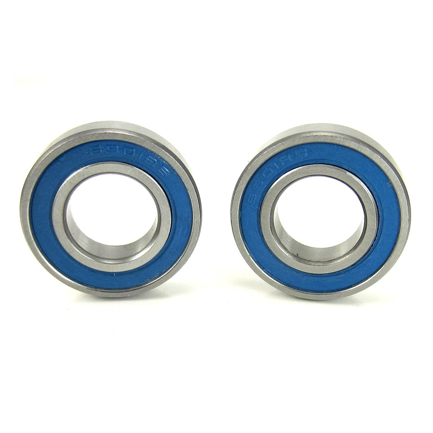 12x24x6mm Precision Ball Bearings ABEC 3 Blue Rubber Seals (2)