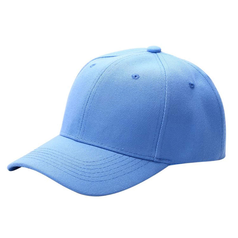2018 Newest Men Women Fashion Baseball Cap Hip-Hop Adjustable Peaked Hat Solid Unisex Curved Visor Hat