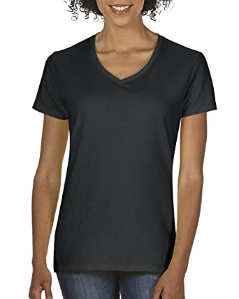 e40c3d923b Gildan Women's Heavy Cotton V-Neck T-Shirt, 2-Pack at Amazon Women's  Clothing store: