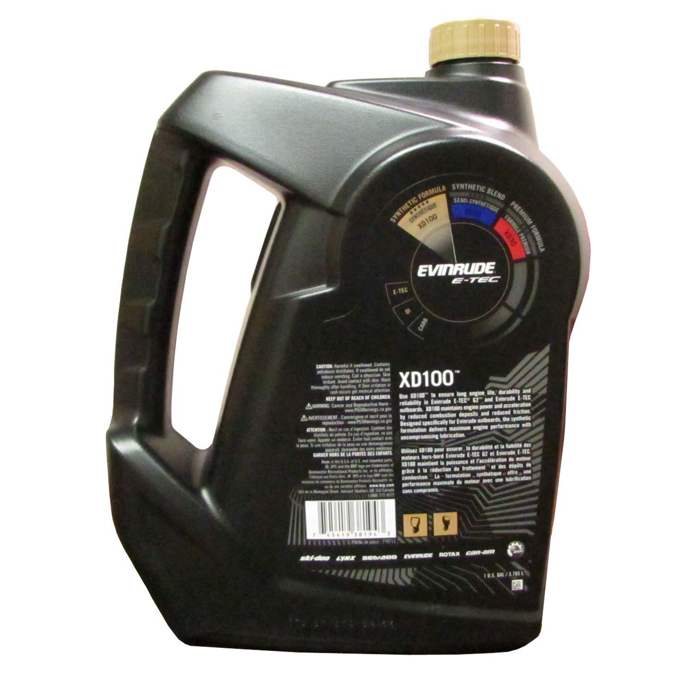 Evinrude Johnson 764357 E-TEC XD 100 Synthetic Formula 2-Cycle Oil, 1 Gallon