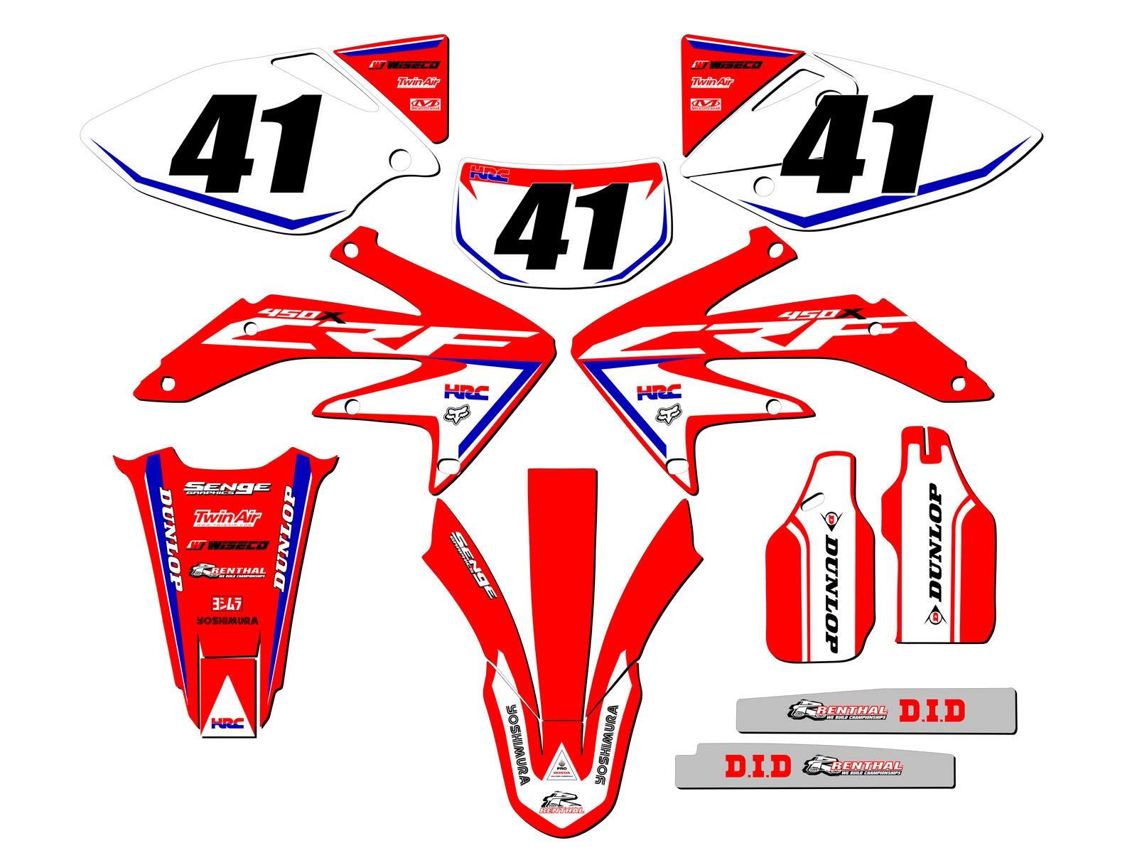 Senge Graphics kit compatible with Kawasaki 2003-2007 KLX 125 Zany Pink Complete Graphics Kit