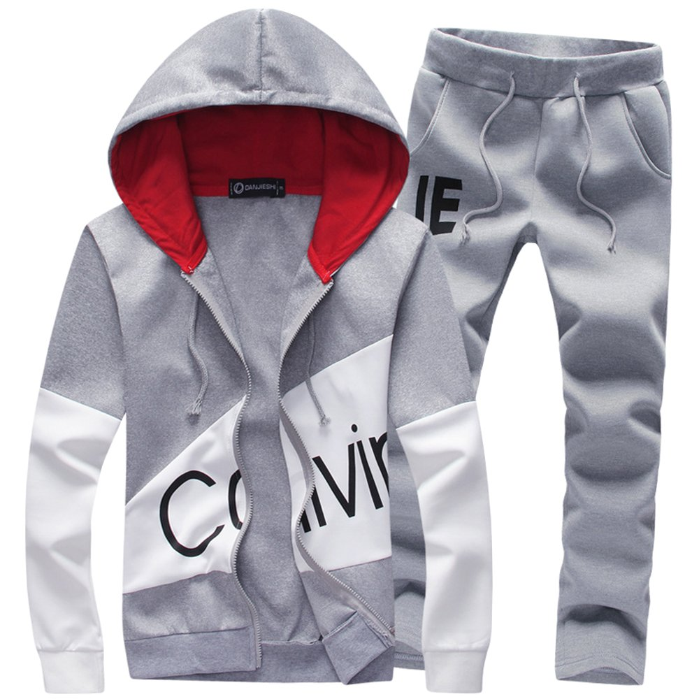 Wenliu Boys Sweatsuits Print Letter Tracksuits Sports Hoodies Jogging Suits