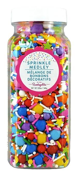 Sweetapolita Bright Skies Sprinkle Medley- Decorative Cake Cupcake  Sprinkles, 5 8 Ounces ||