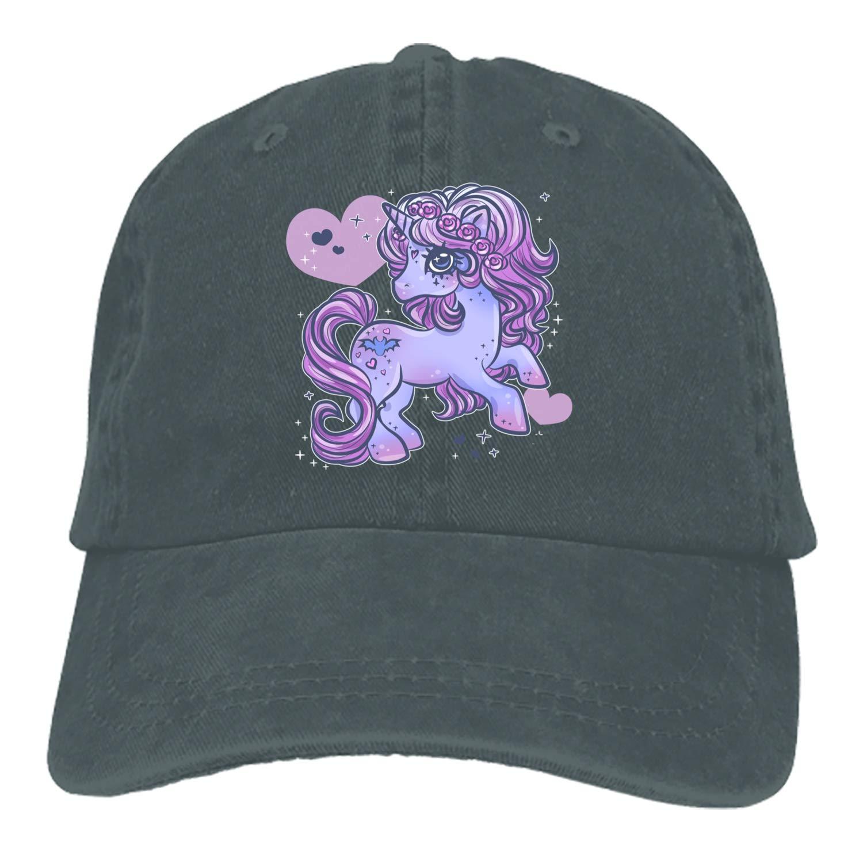 Dad Trucker Snapback Hat Custom Beauty Unicorn Classic Cotton Adjustable Baseball Cap