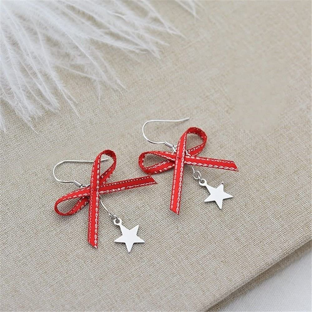 Ling Studs Earrings Hypoallergenic Cartilage Ear Piercing Simple Fashion Earrings Ear Jewelry Bow Star