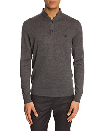 Sport Homme Col Polo Kooples Pull Gris Pulls Laine The Merinos kwO0Pn