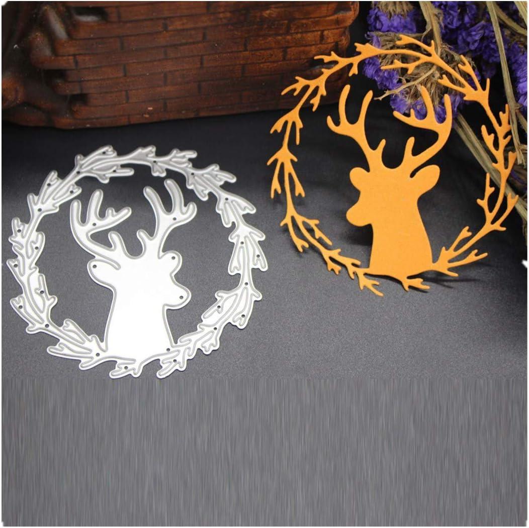 Christmas Deer Metal Cutting Dies Stencil Scrapbooking Card Embossing Craft DIY