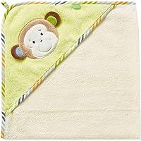 Fehn Kapuzenbadetuch / Bade-Poncho aus Baumwolle mit Tier Motiv für Babys und Kleinkinder ab 0+ Monaten / Maße: 80x80cm