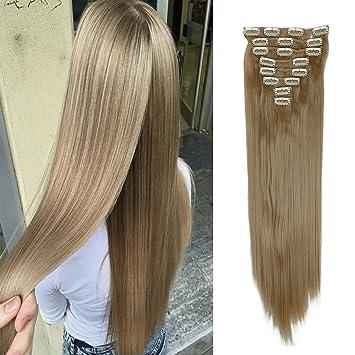 Amazon fashion soft florata hair extensions 2666cm long fashion soft florata hair extensions 26quot66cm long straight 18 clips 8 pieces pmusecretfo Images