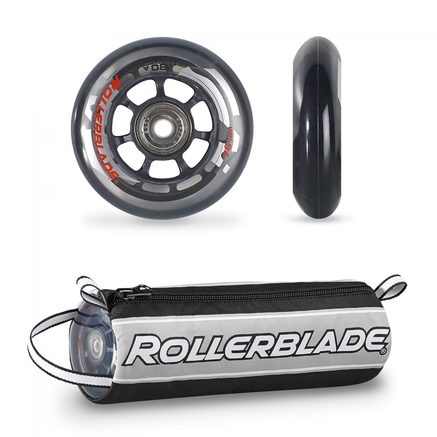 Rollerblade Wheelkit 76mm / 80A + SG5 SG5 Bearings ST & Headband Bundle by Rollerblade
