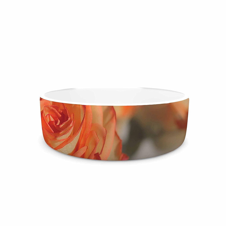 7\ KESS InHouse Angie Turner pinks  orange Floral Pet Bowl, 7