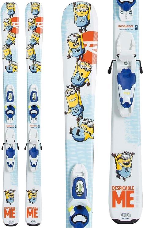 Pack esquí Junior Rossignol Minions + kid-x, azul cielo: Amazon.es: Deportes y aire libre