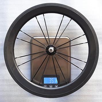 SMC 16 pulgadas 349 Juego de ruedas de fibra de carbono para Brompton Bicicleta de 2 velocidades, UD Matte: Amazon.es: Deportes y aire libre