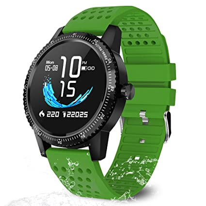 Smart Watch Fitness Tracker with Heart Rate Monitor Activity Tracker Blood Pressure Sleep Monitor Calorie Step Counter Smartwatch IP67 Waterproof ...