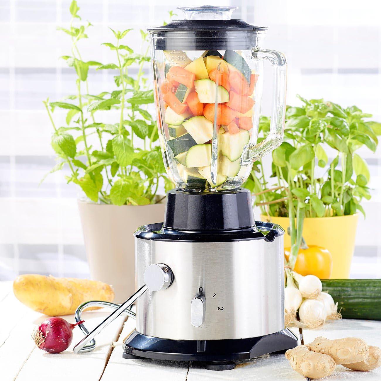 Rosenstein & Söhne: Juicer – Licuadora para frutas, acero inoxidable con licuadora & Molinillo (eléctrica ciclónico Licuadora): Amazon.es: Hogar