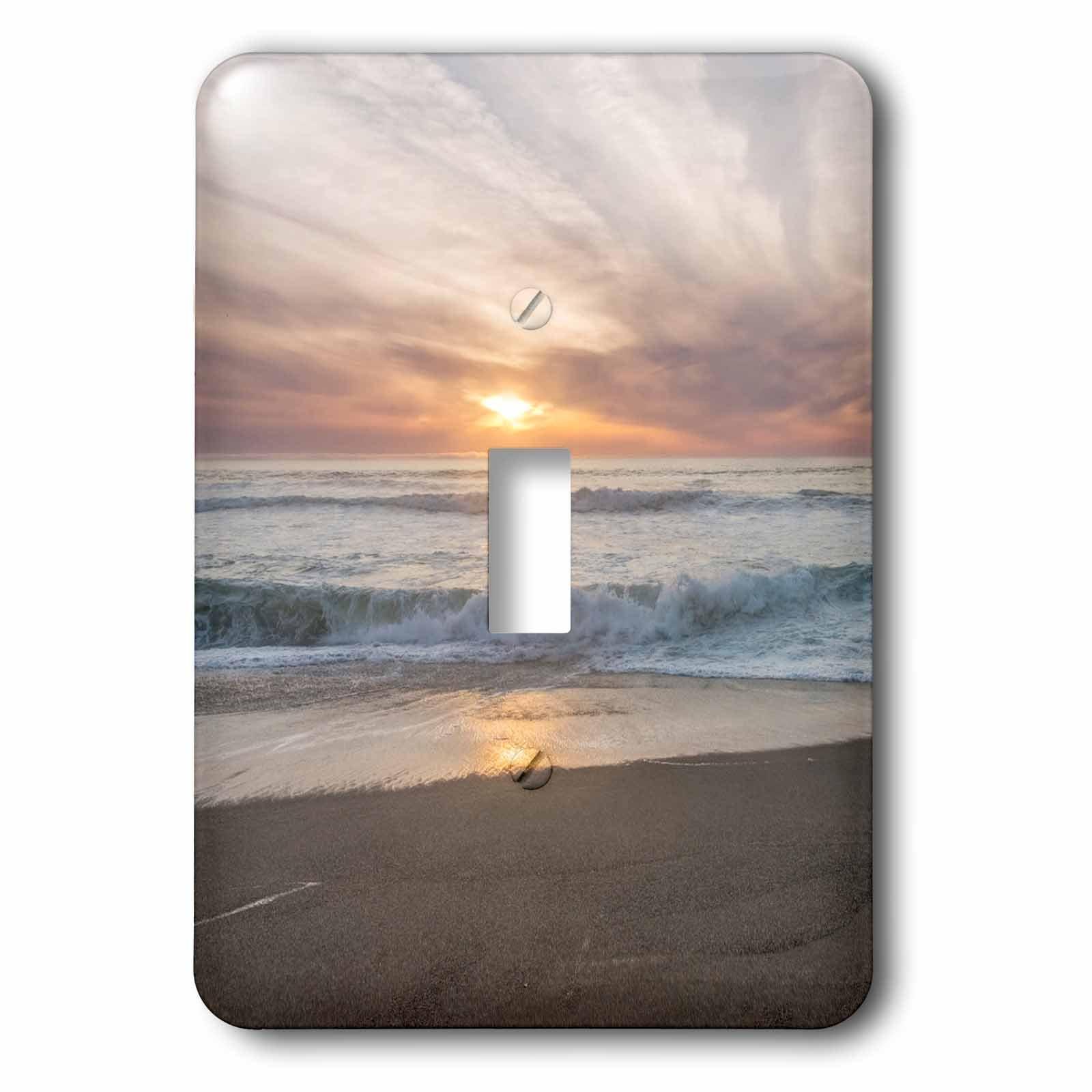 3dRose LSP_278660_1 USA, California, Seashore, Point Reyes Beach Sunset Toggle Switch, Mixed