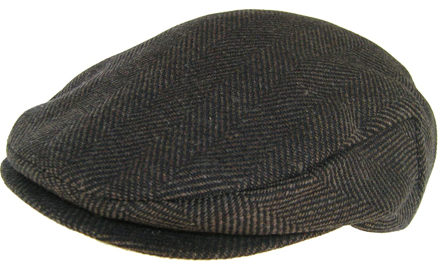 733701c4b Headchange Made in USA 100% Wool Ivy Scally Cap Brown Herringbone Driver Hat