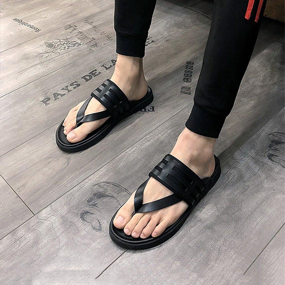 YQQ Strandschuhe Sommer Hausschuhe Rutschfest Sandalen Ferienschuhe Männer Atmungsaktiv Schuhe Männliche Schuhe Gemütlich Atmungsaktiv Männer Lässige Schuhe (Farbe : Schwarz, Größe : EU42/UK8.5) Schwarz 4b0829