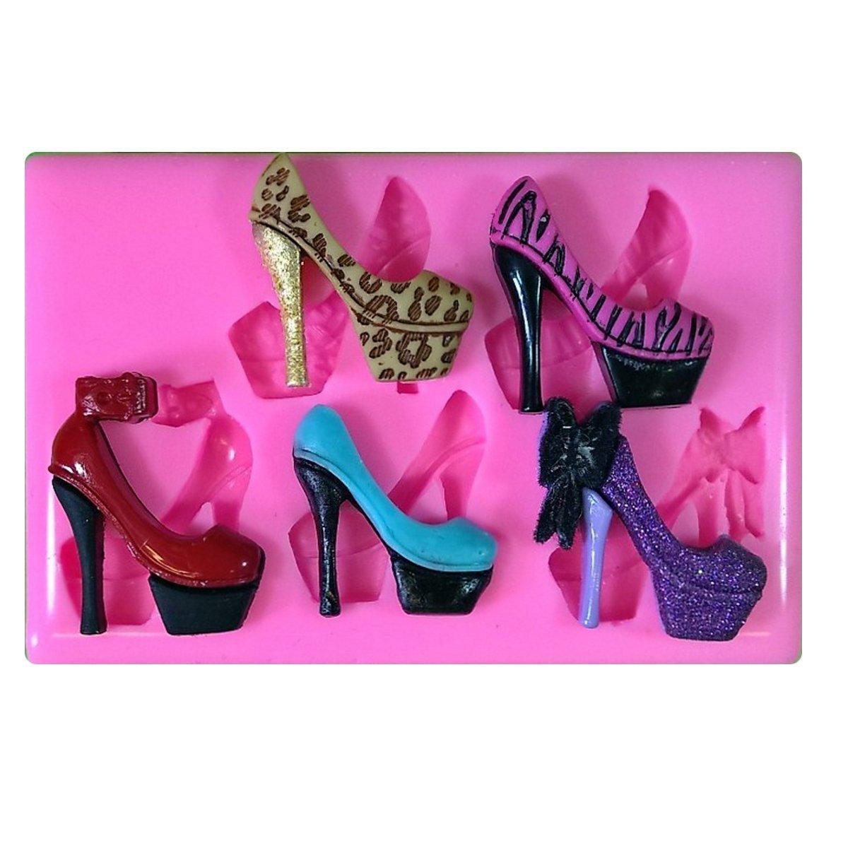 Zapatos de tacón alto atractivo impresionante Molde de silicona ...