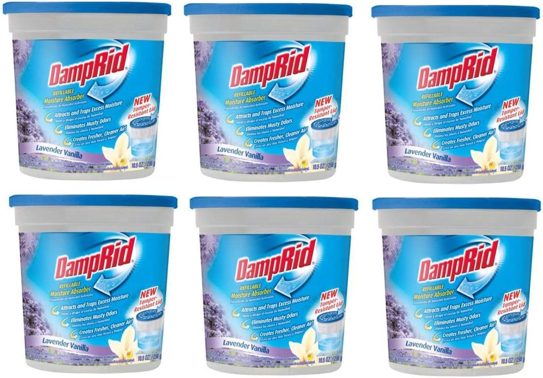 Damp Rid FG01LV Lavender and Vanilla Moisture Pack of 6