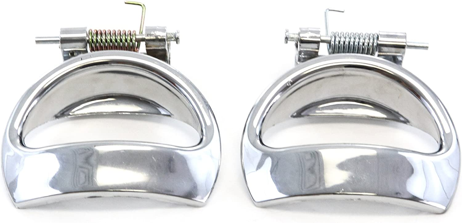 Red Hound Auto Door Handle Chrome Inside Interior Front or Rear LH Left Driver Side for 2006-2011 Compatible with Chevy HHR