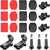 Neewer 20-in-1 Accessory Kit for Gopro: Buckle Clip Basic Mount,J-Hook Buckle Mount,Long Thumb Screw 3-Pack Adhesive…