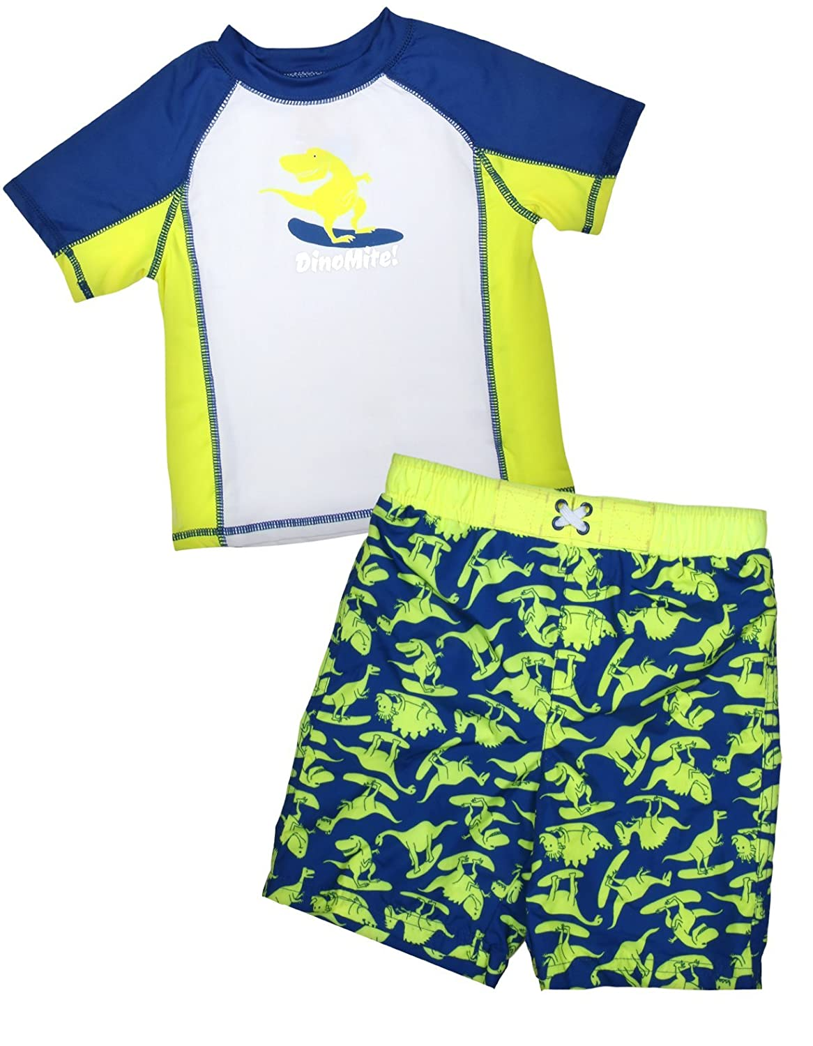 Baby Buns Little Boy's 2-Piece Rash Guard Bathing Suit Set