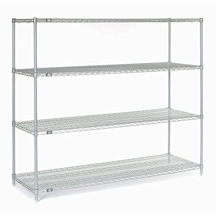 Stainless Wire Shelving | Amazon Com Stainless Steel Wire Shelving 72 W X 24 D X 63 H