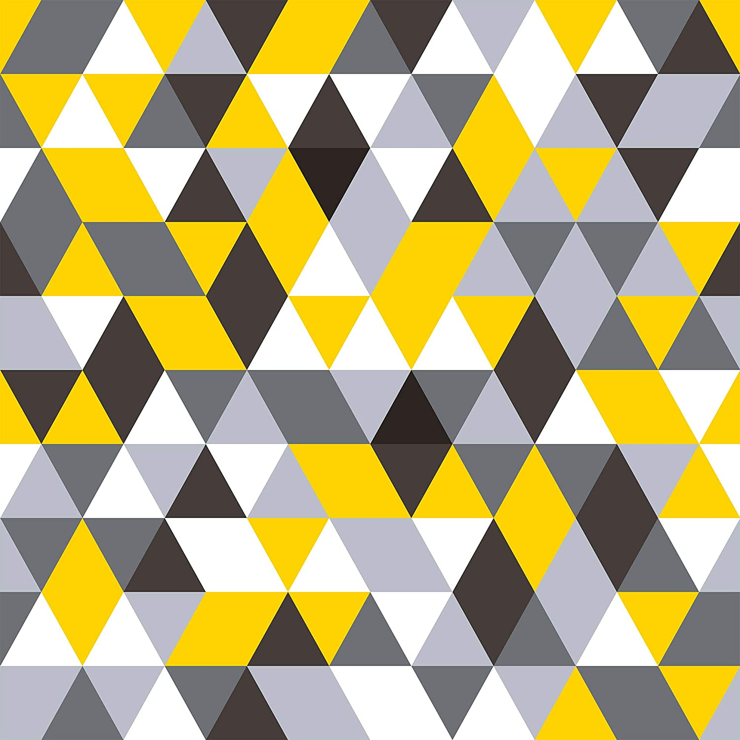 Wallsbyme Peel And Stick Yellow And Grey Triangles Geometric Fabric Removable Wallpaper 3954 2ft X 4ft 61x122cm Amazon Com