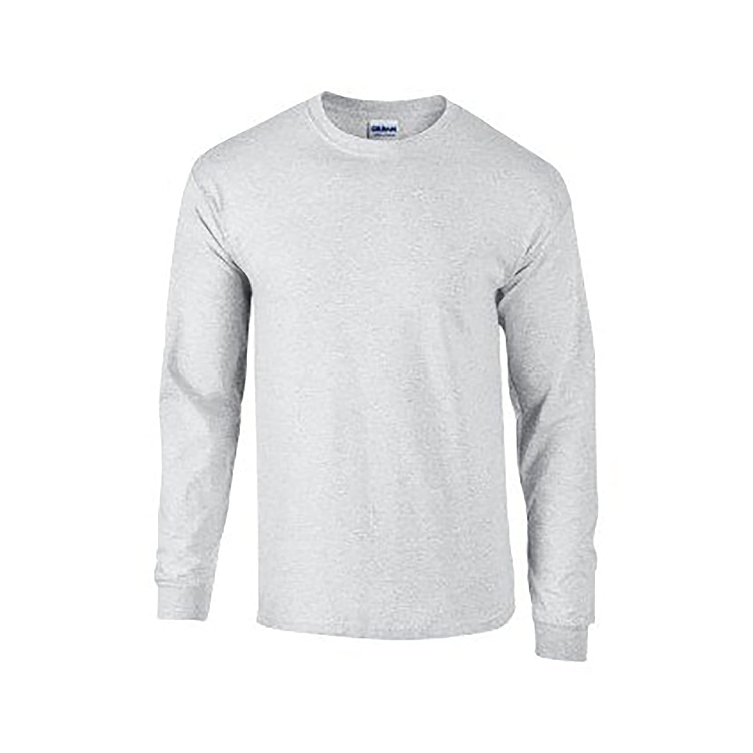 Amazon.com: Gildan Mens Plain Crew Neck Ultra Cotton Long Sleeve T ...