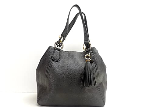 f0022531e4e1 Michael Kors Fulton Large Grab Bag Shoulder Handbag Hobo Black Leather:  Amazon.in: Home & Kitchen