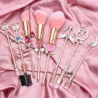 Sailor Moon Makeup Brushes Set - 8pcs Cosmetic Makeup Brush Set Professional Tool Kit Set Pink Drawstring Bag Included (Sailor Moon)