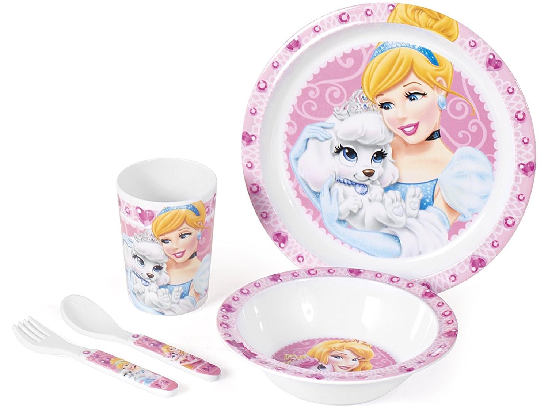 Home Princess & Pets 5-piece Multicoloured Melamine Children's Mealtime Set 9248500 9248500_Decorato -