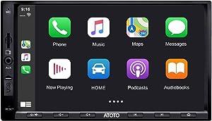 ATOTO in-Dash Double Din Digital Media Car Stereo - SA102 YS102SL CarPlay & Android Auto Receiver w/Bluetooth, Phone Mirroring (Auto Link) AM/FM Radio Tuner,USB Video & Audio