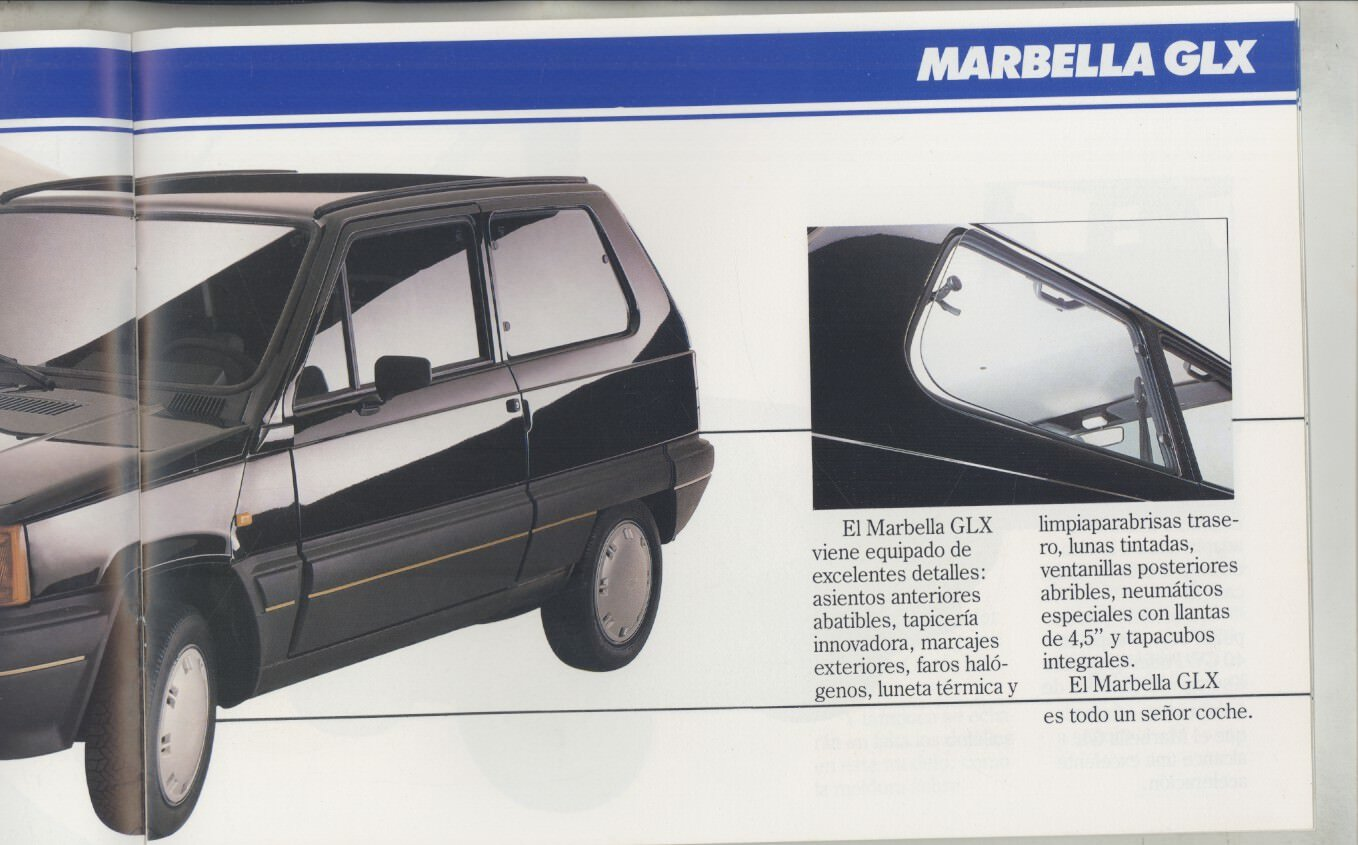 Amazon.com: 1988 Seat Marbella Brochure Spanish: Entertainment Collectibles