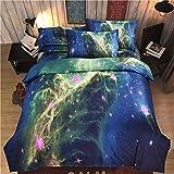 Etelux ropa de cama de 3 piezas, Cama de tamaño de Queen, diseño de galaxia infinita, color #4