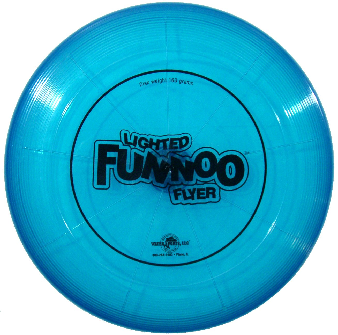 amazon com water sports lighted funnoo flyer 160 gram disk toys