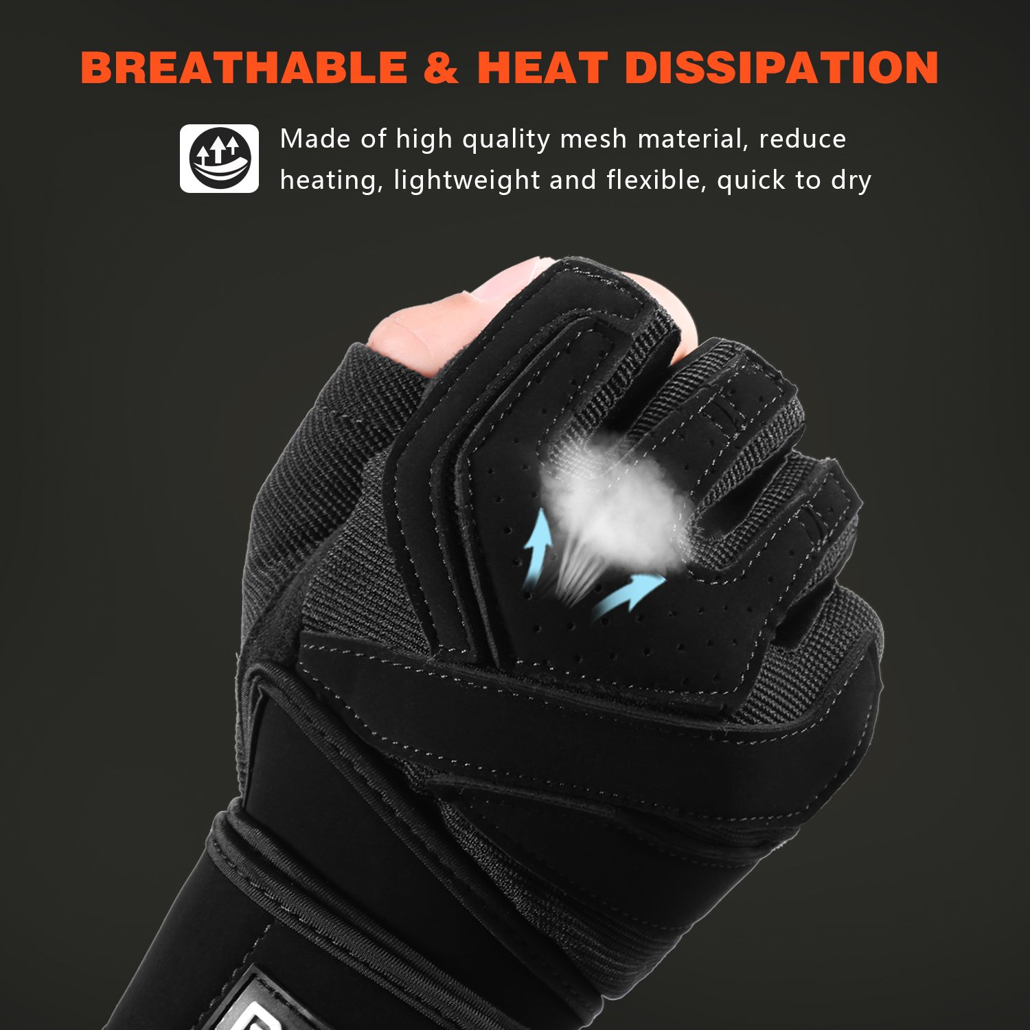 Full Padded BeaceGlove Mens Workout Gym Gloves with Wrist Wrap Support