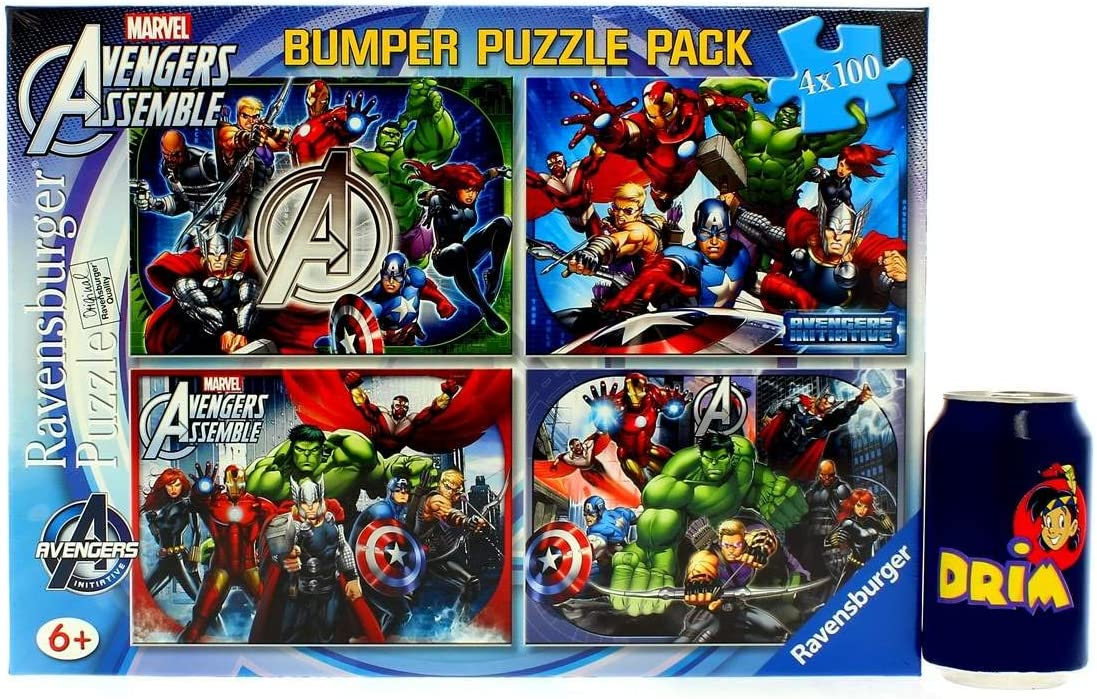 The Avengers 4X 100 Piece Jigsaw Puzzle Bumper Pack by The ...